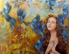 You have my Heart #faith #FineArt #heart #spiritual #ColdWax #contemporary #oil #spiritualism #figurative #woman Art Original, Original Paintings, Colors And Emotions, My Heart Is Yours, Set Me Free, Beautiful Paintings, Oil Painting On Canvas, Lovers Art, Art For Sale