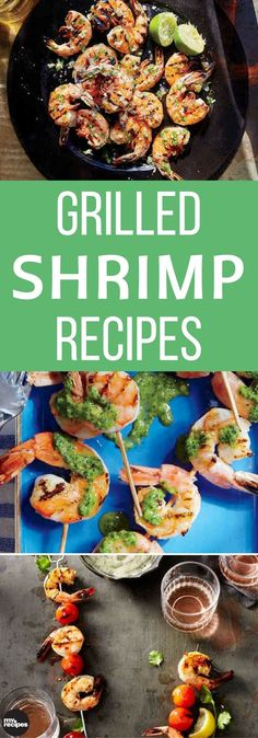 When shrimp meet a hot grill grate, magic happens. Try these crowd-pleasing grilled shrimp recipes, made on everything from skewers to cast-iron, for a delicious summer supper. Grilled Shrimp Marinade, Best Grilled Shrimp Recipe, Best Shrimp Recipes, Shrimp Recipes For Dinner, Entree Recipes, Grilling Recipes, Easy Dinner Recipes, Wine Recipes, Seafood Recipes