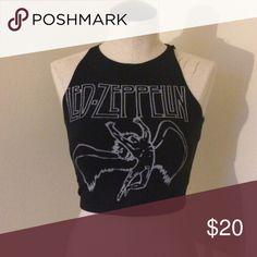 Led Zeppelin Crop New condition Tops Crop Tops
