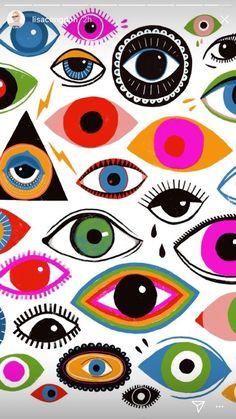 Illustrator unknown illustration у 2019 р. eye illustration, illustration a Psychedelic Art, Eye Illustration, Eye Painting, Hippie Art, Wall Collage, Art Inspo, Art Projects, Canvas Art, Graffiti