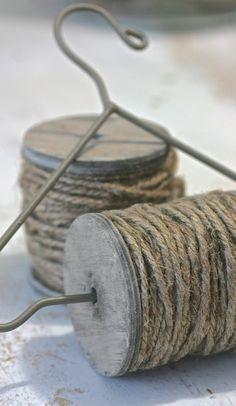 Klos touw naturel met houder