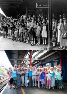@Guernseyevacuee THEN AND NOW #WW2 photo of my evacuees created for me by the fabulous @liverpoolblitz #evacuee #Manchester