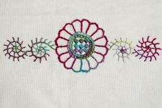 Floral Geometry Hot-Iron Transfer Embroidery Pattern · Kate & Rose