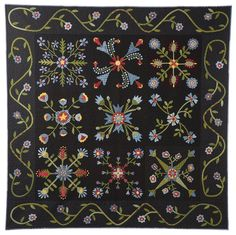 "Check out this NEW book - Starlit Garden by The Buggy Barn... designs by Pam Soliday & Janet Nesbit... Step by step instructions... full size templates... in a Block of the Month format... Finished quilt size about 80""x 80""... Finished block size about 20"" x 20""... book price $28.00 :)"