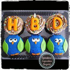 Cupcakes Cumpleaños Búhos (Owl Birthday Cupcakes)