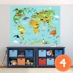 World map print fabricblue on blue world mapriley by morelovemama world map poster decal mural sticker wall vinyl or fabric geography counties continents animals world map gumiabroncs Gallery