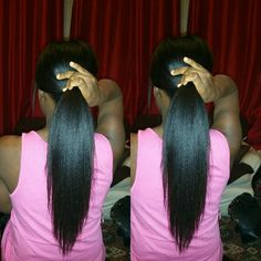 .OHHH.(sings)..i want my hair to rea-e-each this length