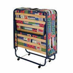 Firenze Folding Roll Away Guest Bed with Memory Foam Mattress