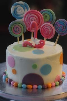 Candy Cake for Candy Birthday Party!