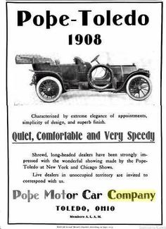 1908 Pope-Toledo Automobile Advertisememt