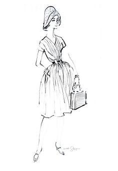Toby c.1958 Fashion Illustration $75-395 vintage fashion