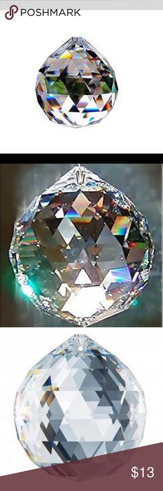 """Clear Swarovski Crystals Sun Catcher. Breathtaking Clear Swarovski Crystal sun Catcher.  Approx 1"""" diameter. Other"""