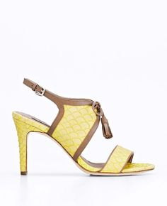 Ann Taylor Gwen Lace Up Exotic Leather Sandals