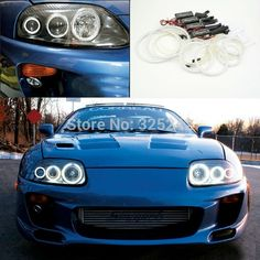 (55.00$)  Watch here - http://aivif.worlditems.win/all/product.php?id=32536096103 - For toyota supra MKIV A80 1993-2002 Excellent CCFL Angel Eyes kit Ultra bright illumination angel eyes kit Halo Ring