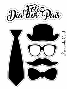 Fathers Day Wallpapers, Silhouette Frames, Mustache Party, Books For Boys, Classroom Crafts, Baby Birthday, Cute Stickers, Mother Gifts, Diy For Kids