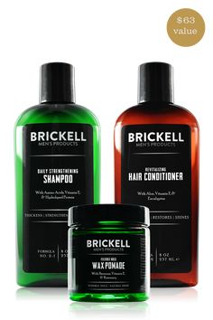 The Brickell Complete Men's Hair Care Routine Bundle consists of the Daily Strengthening Shampoo, Revitalizing Hair Conditioner, and Flexible Hold Wax Pomade. Oil For Hair Loss, Stop Hair Loss, Prevent Hair Loss, Home Remedies For Hair, Hair Loss Remedies, Hair Loss Shampoo, Hair Loss Women, Face Lotion, Hair Loss Treatment