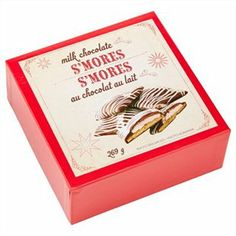 For the chocoholic: Milk Chocolate S'mores. Made with the finest milk chocolate, these decadent milk chocolate s'mores come in a festive box that is perfect for gifting.