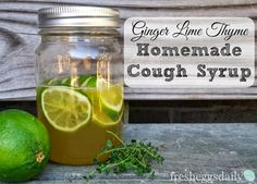 Fresh Eggs Daily®: Ginger Lime Thyme Homemade Cough Syrup Recipe