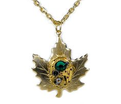 Steampunk Jewelry Necklace Gold HAMILTON by SteampunkBoutique