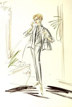 Lana Turner Costume Sketch by Edith Head Unique | eBay