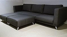 The Campbelltown Chaise Lounge with 2 Ottomans