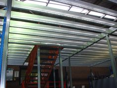 Boxspan Steel Upper Floor Frame- Our Mezzanine Level in our Factory in Mittagong NSW- Where our Steel Framing Supplies are manufactured