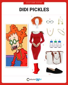 The best costume guide for dressing up like Didi Pickles, the loving mother of Tommy and Dil from the Nickelodeon cartoon show Rugrats. Character Halloween Costumes, 90s Halloween Costumes, Got Costumes, Halloween Costume Contest, Baby Halloween, Halloween Night, Costume Ideas, Rugrats Costume, 90s Cartoon Costumes