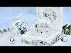 Zestaw świąteczny pudełko i bombki - DIY tutorial - YouTube Christmas Decoupage, Decoupage Box, Snow Globes, Diy, Youtube, Home Decor, Balls, The Creation, Xmas