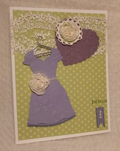 Dress and Heart Framelits card