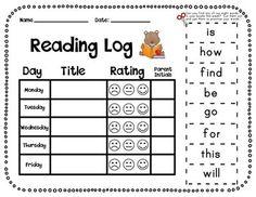 Journeys First Grade Reading Log with Sight Word Flash Cards Kindergarten Reading Log, Journeys Kindergarten, Teaching Reading, Learning, Teaching Ideas, Kindergarten Classroom, Guided Reading, Guided Math, Reading Logs