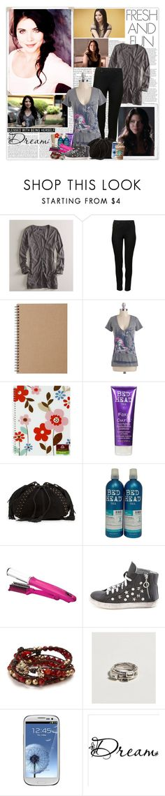 """""""April Young"""" by noseinanovel ❤ liked on Polyvore featuring ASOS, American Eagle Outfitters, Muji, Out of Print, Greenroom, TIGI, MANGO, Bed Head by TIGI, InStyler and Charlotte Russe"""