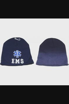 "Shop 8"" EMS Emergency Medical Services Navy Blue Embroidered Beanie Skull Cap Hat now save up 50% off, free shipping worldwide and free gift, Support wholesale quotation! Cotton Beanie, Knit Beanie, Beanies, Beanie Hats, Light Up Hats, Emergency Medical Services, Elastic Headbands, Quotation, Caps Hats"