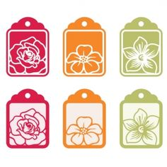 Floral Tags  Zip Folder Contains:    1 SVG Cut File.  1 DXF Cut File.  1 GSD Cut File.  1 MTC Cut File.  1 .studio Silhouette Cut File.  Great for book and photo album covers, gift wraps, scrapbooking, invitations and making cards, stationary, labels and tags, collages, stickers.    Keywords: Tags, Floral, Flowers, GSD files, Silhouette studio files, MTC files, SVG file, Cutting files, Modern, Scrapbooking, Shery K Designs.