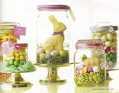 Easter candy jars are my fave on http://www.youaremyfave.com