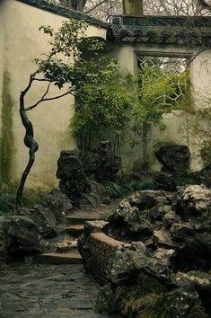 15 Most Popular Asian Garden Design Inspiration for Your Backyard - Home Bigger Asian Architecture, Landscape Architecture, Landscape Design, Chinese Courtyard, Chinese Garden, Chinese Landscape, Fantasy Landscape, Garden Images, Parcs