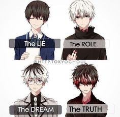 Tokyo Ghoul Kaneki *slam the table* I want the truth !.......*look away and mumble*...Sorry about that horrible pun...