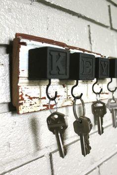 DIY Key Hooks