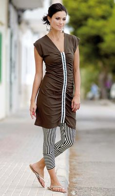 Stoff & Stil - Jersey viskose, natur Short Sleeve Dresses, Dresses With Sleeves, Fashion, Fashion Styles, Nature, Moda, Sleeve Dresses, Gowns With Sleeves, Fashion Illustrations