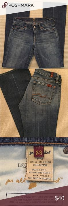 Seven for all Mankind -boot cut jeans These 7 for all Mankind jeans are in very good condition. Inseam is approximately 33 7 For All Mankind Jeans Boot Cut