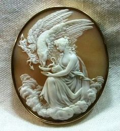 1860 Italian hand carved cameo