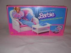 Crazy! I found a box with some of my Barbie things and the chair with cushion and pillow was among the things. Now my daughter uses it for her dolls.