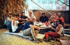 ( corrected by the boss) June 96 . Band and Crew lunch 'Bedouin' style ,in the heat of the Israeli desert . #tourmemories #rageagainstthemachine #ratm #tommorello #timcommerford #zackdelarocha #bradwilkandhistechAndywasntthere