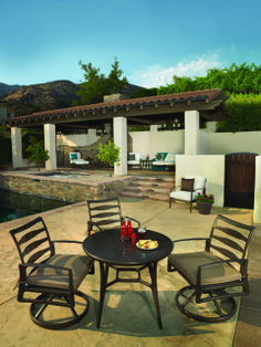 Casual outdoor furniture will keep your weekends easy! Modern Outdoor Decor, Outdoor Living, Cabana Decor, Contemporary Patio, Outdoor Dining Furniture, Outdoor Seating, Backyard, Spas, Pools