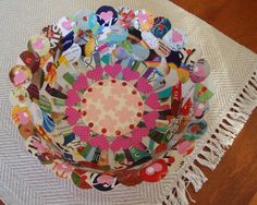 Paper Collage BowlPaper Mache by ContainedHappiness on Etsy