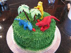 Dinosaur Cake Pattern   Gâteaux Design: Gateau Dinosaures / Dinosaur cake