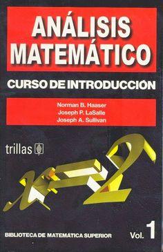 Analisis Matematico Hasser Vol 1 PDF Descargar ~ Libros de Matematica