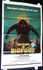 REVENGE OF BIGFOOT 1979 Movie Poster 27x41 #BMovie #SciFi #Horror #MoviePoster