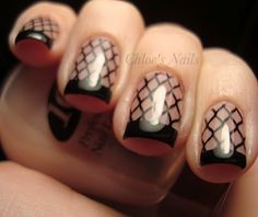 cute to have 1 fish-net style nail. by thelma