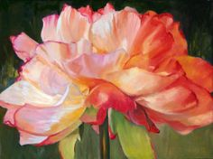 Warm colors, beautifully painted petals on mum.   www.carolhopper.com.