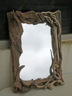 barndominium ideas LUXXU Home is a stunning luxury furniture brand that specializes in modern products and handcrafted, quality design. Here 5 must haves for the Dining Room! Driftwood Furniture, Driftwood Mirror, Driftwood Projects, Driftwood Sculpture, Wood Framed Mirror, Diy Furniture, Luxury Furniture, Wall Mirror, Furniture Projects